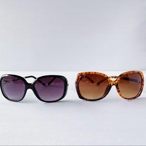 x2 Oversized Sunglasses - Black + Tortoiseshell